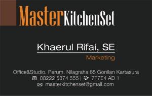 kitchen set solo premium kartu nama kartu nama
